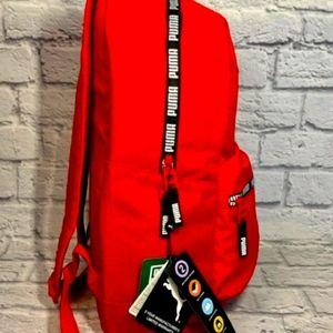 Puma Red Huge Logo Backpack